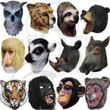 Sloth Animal Halloween Costume Latex Overhead Animal Jungle Chimp Gorilla Sloth Tiger Lemur