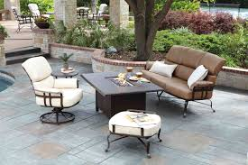 Landgrave Patio Furniture by Atlas Wrought Iron Seating With Rectangular Cocktail Table With