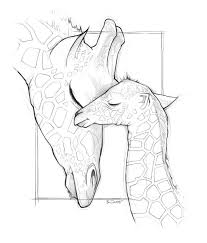 mom and baby giraffe coloring pages