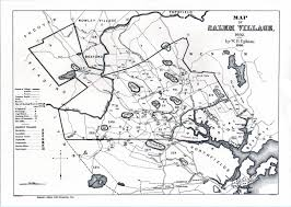 Map Of Massachusetts Towns by Salem Village Map Of Project Gutenberg Etext 17845