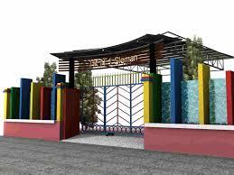 desain warna gapura model desain gapura minimalis penuh warna gate design pinterest