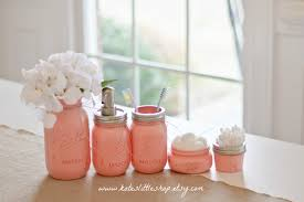 mason jar bathroom kit peach ball mason jars rustic home
