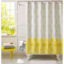 Gray And Yellow Chevron Shower Curtain by Blue And Yellow Fabric Cintinel Com