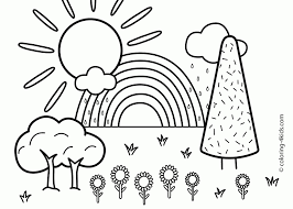 farm scenery drawings with scenery coloring pages eson me