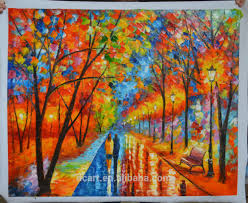 knife oil painting wall art for living room