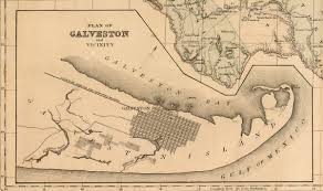 Map Of Galveston County Map Of The State Of Texas 1873 By W H Gamble