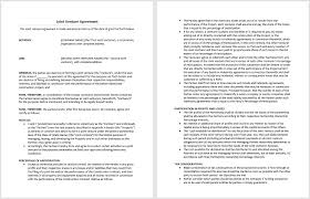 joint venture agreement template microsoft word templates