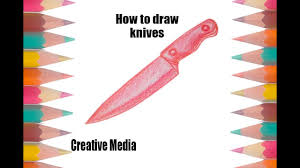 how to draw knives step by step draw a knife easy coloring