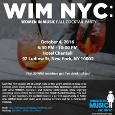womeninmusic wim nyc fall cocktail party
