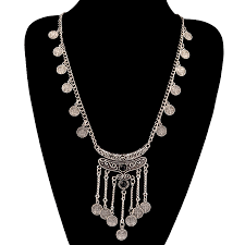 silver tassel long necklace images Tassel vintage punk antique jewelry retro women sweater chain jpg