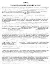 house rent contracts free lease u0026 rental agreement forms ez