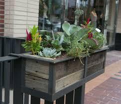 mount deck railing planter box decoration outdoor deck rail