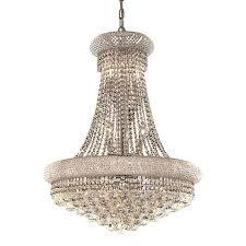 Elegant Crystal Chandelier Shop Elegant Lighting Primo 24 In 14 Light Chrome Crystal Crystal