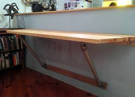 How To Build A Wood Table Top Podium by Best 25 Wall Mounted Table Ideas On Pinterest Cafe Design