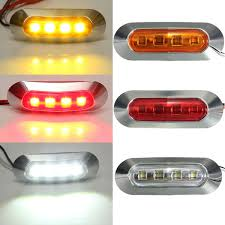 led side marker lights abs 2w 12v 24v yellow red white led side marker light tail l for