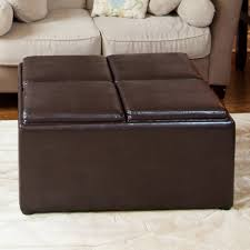 Rolling Ottoman With Storage by Leather Storage Ottoman Coffee Table