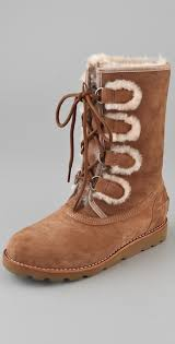 ugg rommy sale ugg rommy lace up boots brown in brown lyst