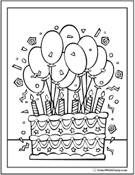 birthday coloring pages printable kidcolorfun