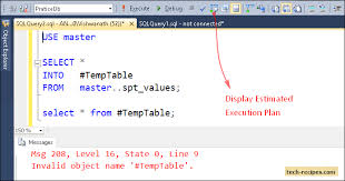 Temp Table Sql Server Sql Server Estimated Vs Actual Execution Plans