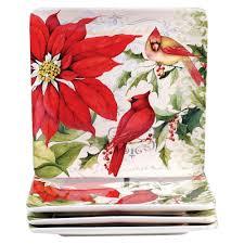 certified international botanical christmas assorted dinner plates