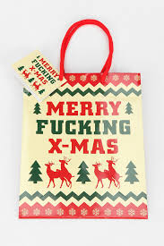 merry fucking xmas gift bag hip stuff for haters pinterest