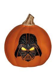 star wars darth vader light up orange pumpkin