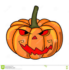 Halloween Pumpkin Icon Halloween Creepy Scary Pumpkin Vector Symbol Icon Design Stock
