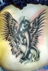 devil angel wings tattoo on back tattoo viewer com