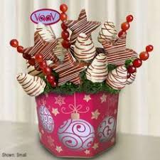 White Chocolate Dipped Strawberries Box Edible Arrangements Swizzle Strawberries Apples U0026 Bananas Box