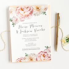Images Of Wedding Cards Invitation Peony Wedding Invitations Blush Pink U2014 Alisa Bobzien Wedding
