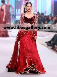 online pakistani designer asifa nabeel wedding dresses party wear