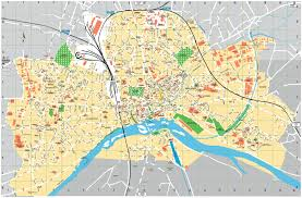 Arles France Map by Nevers Tourist Map