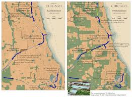 Chicago River Map by Metropolitan Chicago Water