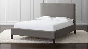 cole queen upholstered bed crate and barrel