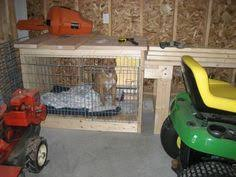 garage dog kennel i would do it a little differently but it u0027s an