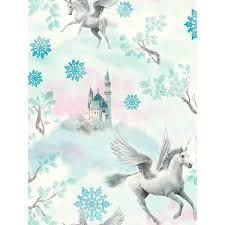 Unicorn Home Decor A Magical Unicorn Themed Wallpaper Non Transferable Glitter