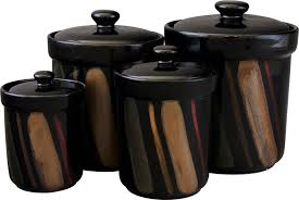 black kitchen canisters the functional kitchen canister sets kitchen ideas