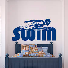swimming wall decal stickers sports swim decor for boys room