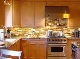 backsplash kitchen ideas peach subway tile backsplash with light