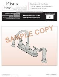 Price Pfister Kitchen Faucet Parts Diagram by Pfister F 036 4snc User Manual 4 Pages