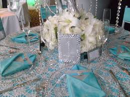 Silver Wedding Centerpieces by Bling And Feathers For Wedding Ideas Teal Silver U0026 Bling