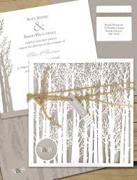 wedding invitations online australia endless forest laser cut wedding invitation online australia
