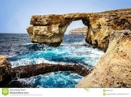 Azure Window by The Azure Window At Dwejra On Gozo Island Stock Photo Image