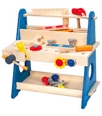 practical tool box workbench from hape from the wooden toybox