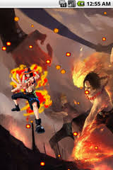 free luffy and ace one piece live wallpaper software download