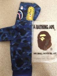 bape blue camouflage genuine hoodie in redditch worcestershire