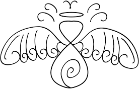 tattoo angel simple simple angel tattoo with swirl by sol lepus on deviantart