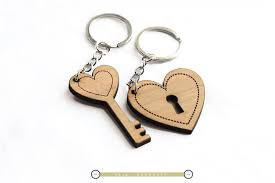 wooden keychains wooden heart style keychain lover keychain key and