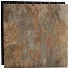 Vinyl Flooring That Looks Like Ceramic Tile Place N U0027 Go Blue Shale 18 5 In X 18 5 In Interlocking Waterproof