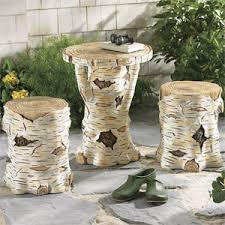 birch tree decor birch tree trunk stool furniture home decor home furnish
